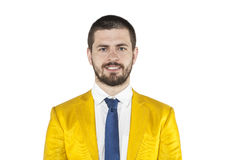 Cheerful businessman on the withe background Royalty Free Stock Image