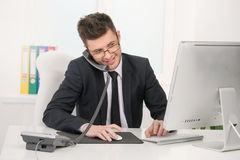 Cheerful businessman. Royalty Free Stock Image