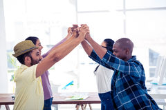 Cheerful Businessmen and businesswomen performing group activity Royalty Free Stock Photos
