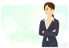 Cheerful businesswoman Stock Image