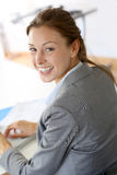 Cheerful businesswoman Stock Images