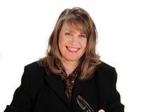 Cheerful Businesswoman Royalty Free Stock Photos