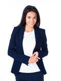 Cheerful businesswoman looking at camera Royalty Free Stock Photos
