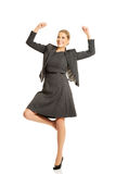 Cheerful businesswoman Royalty Free Stock Photos