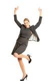 Cheerful businesswoman Stock Photo