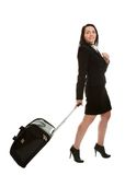 Cheerful businesswomen with travel bag Royalty Free Stock Photography