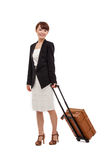 Cheerful businesswomen with travel bag Royalty Free Stock Photos