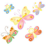 Cheerful butterfly Royalty Free Stock Photo