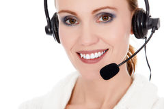 Cheerful call center operator Stock Photography