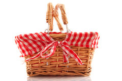 Cheerful cane basket Royalty Free Stock Photography