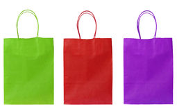 Cheerful carrier/shopper bags Royalty Free Stock Photos
