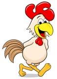 Cheerful cartoon chicken Royalty Free Stock Image