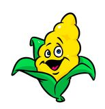 Cheerful cartoon corn Royalty Free Stock Images