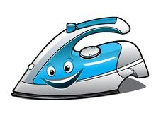 Cheerful cartoon electric iron Stock Photos