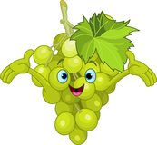Cheerful Cartoon Grape character Stock Photography