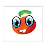Cheerful cartoon tomato Stock Photos