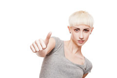 Cheerful casual blond girl Stock Photography