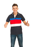 Cheerful  casual man Royalty Free Stock Image