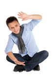 Cheerful Casual Man Sitting Royalty Free Stock Photo