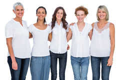 Cheerful casual models posing together Royalty Free Stock Photo