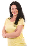 Cheerful casual woman Stock Image