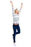Cheerful celebration woman Royalty Free Stock Photography