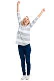 Cheerful celebration woman Royalty Free Stock Photo