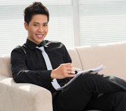 Cheerful ceo Stock Images