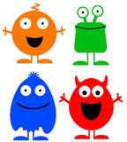Cheerful characters Royalty Free Stock Photography