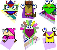 Cheerful characters Royalty Free Stock Images