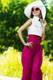 Cheerful charming young woman white Stock Image