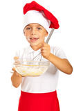 Cheerful chef boy Royalty Free Stock Image