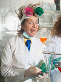 Cheerful chemist Royalty Free Stock Photos