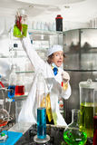 Cheerful chemist Stock Images