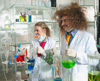 Cheerful chemists Royalty Free Stock Photography