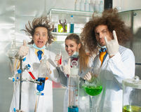 Cheerful chemists Royalty Free Stock Images