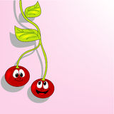 Cheerful cherries Royalty Free Stock Image
