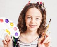 Cheerful child artist Royalty Free Stock Photos