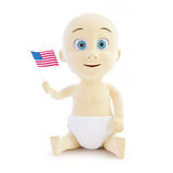 Cheerful child holding a us flag Stock Image