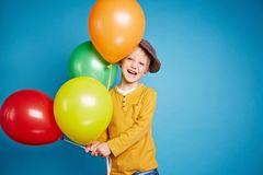 Cheerful child Stock Photos