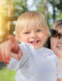 Cheerful Child outdoor Royalty Free Stock Photos