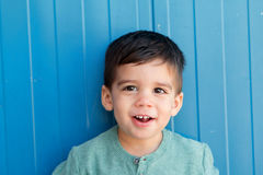 Cheerful child with two years on the street Stock Photography