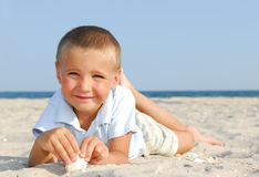 Cheerful  child on  vacations Royalty Free Stock Image