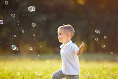 Cheerful childhood Royalty Free Stock Images