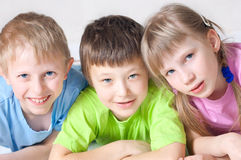 Cheerful children stock image