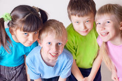 Cheerful children royalty free stock images