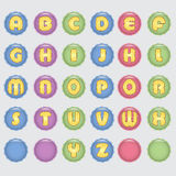 Cheerful children's alphabet Royalty Free Stock Images