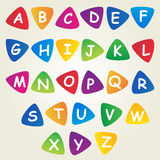 Cheerful children's font design. Congratulations Stock Photos
