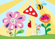 Cheerful children's meadow Stock Photography