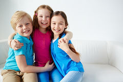 Cheerful children Stock Images